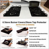 Reusable Gas Stove Burner Covers (Pack of 6)