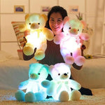 Led Light Teddy Bear Colorful Glowing Stuffed Animal Plush Toys For Kids On Christmas