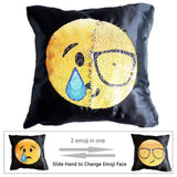 Sequin Emoji Pillow Case