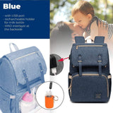 Waterproof 2-in1 USB Charger & Diaper Bag