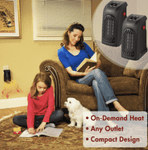 Handy Heater - Plug-In Heater - Mini Portable Electric Heater