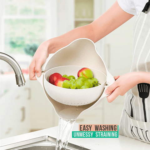 2in1 Anti-spill Fruits & Vegetable Strainer