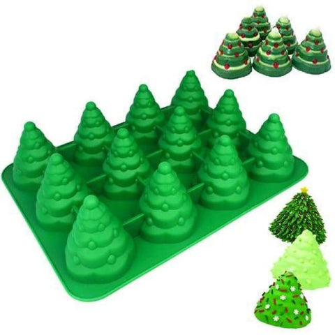 3D Christmas Tree Baking Mold