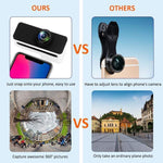 360 Degree Panoramic Tiny Planet Camera Lens for iPhone 7/8 - Panoclip