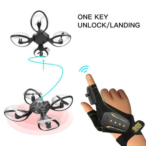 Glove Controlled Foldable Drone