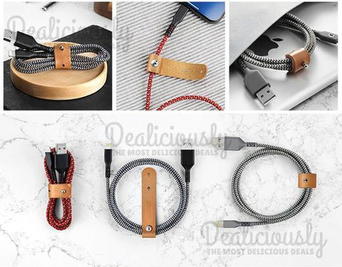 No-Snap PRO�_� - Braided Kevlar Type C USB Cable