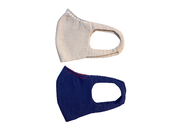 3D STRETCH MASK・ステッチ Beige×White/ Navy×Bordeaux