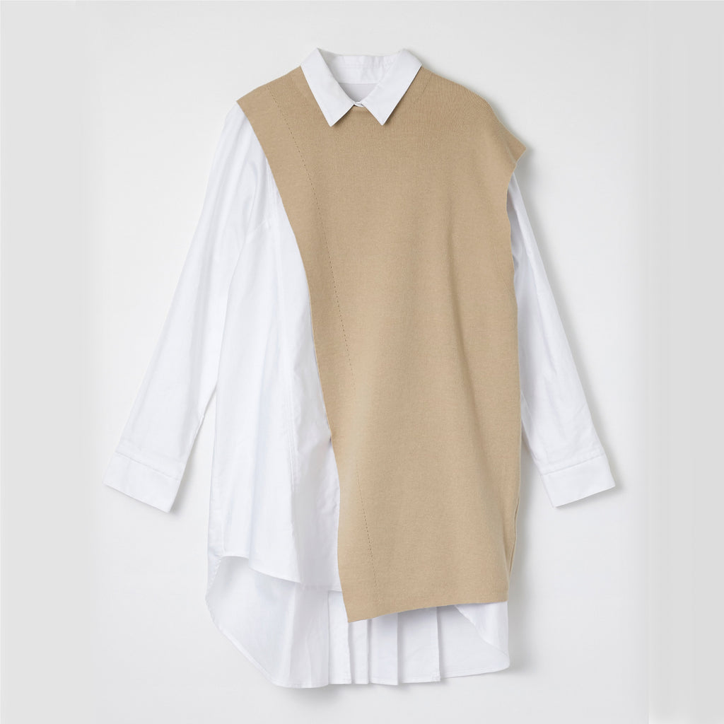 【21SS商品】Knit Vest with Tunic Blouse