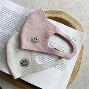 【21SS予約商品】3D STRETCH MASK・SMILE MOTIF   L,GRAY/PINK
