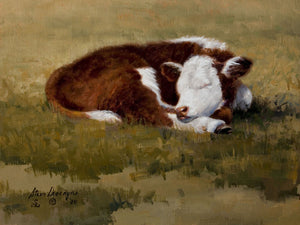 Daydreamin' is an 8 x 10 Oil Painting on Linen by renowned Western Artist Steve Devenyns. His Award winning fine western art has been featured in the Buffalo Bill Art Show, Prix de West Art Show, Eiteljorg Museum, National Museum of Wildlife Art Show, Western Visions Art Show, Cheyenne Frontier Days Governor's Art Show