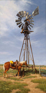 "American Cowboys need to be a ""Jack of All Trades"". This painting by Steve Devenyns is available in Standard Print or Canvas Transfer Artist Proof. Steve Devenyns Fine Art and Limited Edition Prints, Giclee's, and Original Paintings of Ranching, Wildlife and Cowboy art are true depictions of the American Cowboy."
