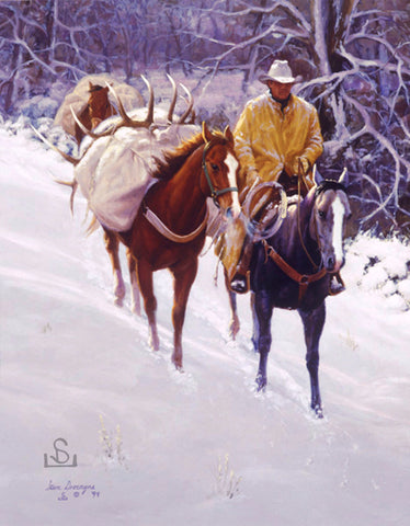 """One for the Books"" by Steve Devenyns, One of America's Finest Western Artists of Fine Art, Limited Edition Prints, Giclee's and Original Paintings of Ranching, Wildlife and Cowboy art. Steve has been featured in the National Museum of Wildlife Art Show, Western Visions Art Show, Cheyenne Frontier Days Governor's Art."