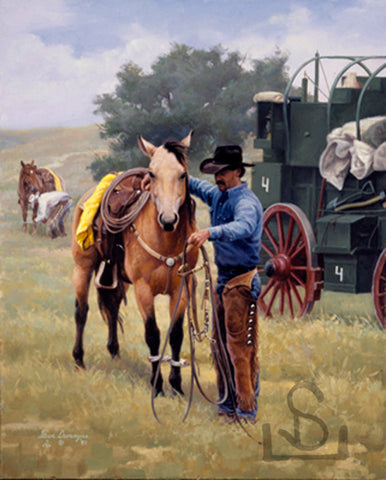 """Partners"" by Steve Devenyns, One of America's Finest Western Ranch, Cowboy, and Wildlife Artists of Fine Art, Limited Edition Prints, Giclee's and Original Paintings of Ranching, Wildlife and Cowboy art. Steve has been featured in the America's Horse in Art Show, and George Phippen Memorial Art Show."