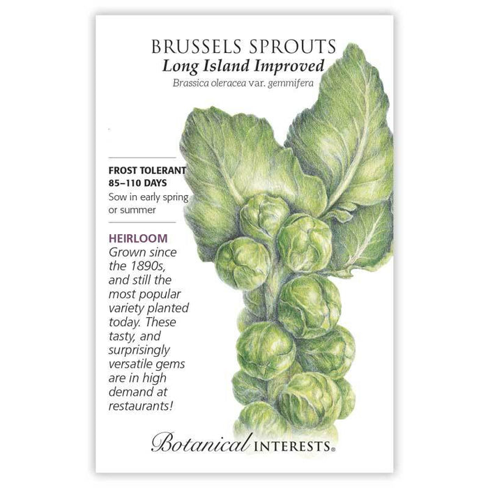 Botanical Interests, Brussels Sprouts, Long Island Improved  Heirloom