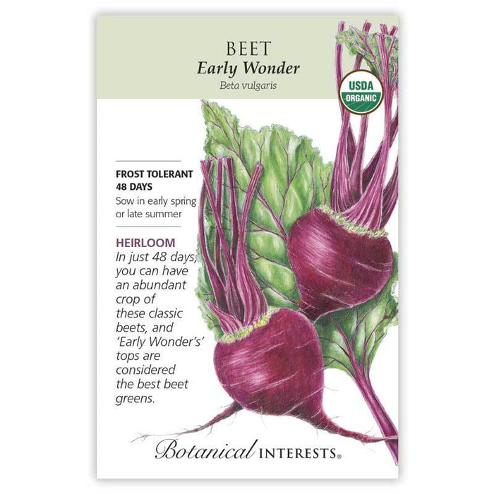 Botanical Interests, Beet, Early Wonder Beet Seeds