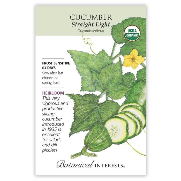 Botanical Interests, Cucumber Straight Eight Organic