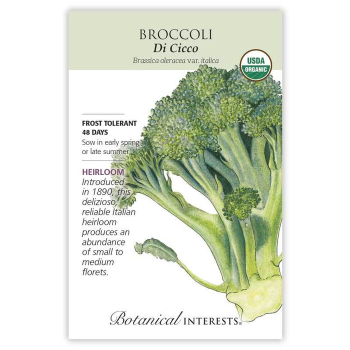 Botanical Interests, Broccoli, Di Cicco  Organic, Heirloom