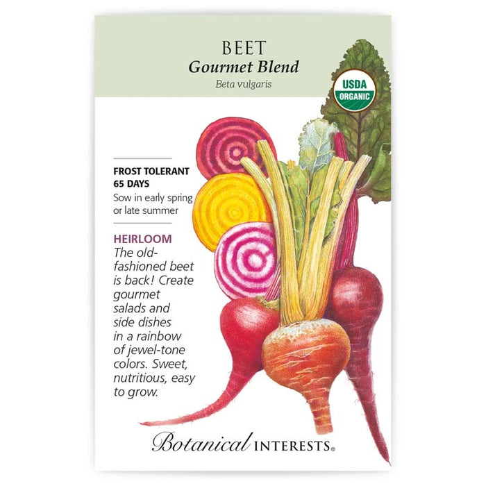 Botanical Interests, Beet, Gourmet Blend Organic, Heirloom