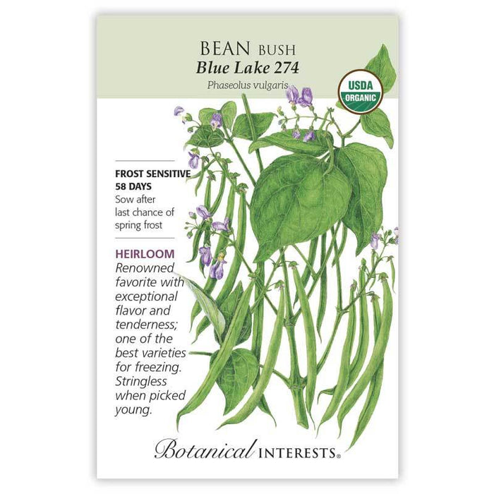 Botanical Interests, Bean, Blue Lake 274 Organic