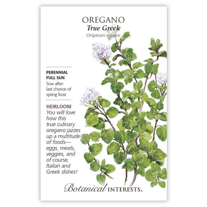 Botanical Interests, Oregano True Greek