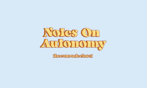 Notes on Autonomy & Anarchism