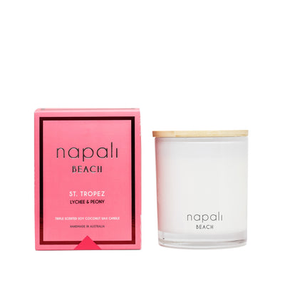 ST. TROPEZ LYCHEE & PEONY SOY CANDLE