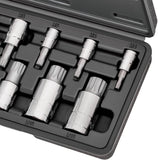 CARBYNE XZN Triple Square Spline Bit Socket Set - 10 Piece, S2 Steel Bits | Metric 4mm - 18mm
