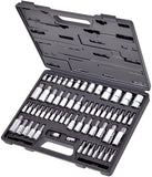 Carbyne 62 Pc Master Torx Bit Socket Set & Torx External Socket Set, S2 Steel Bits, CRV Sockets | 1/4-inch, 3/8-inch & 1/2-inch Drive