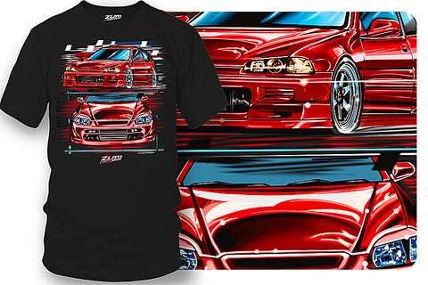 Honda Civic  t-shirt - Zum Speed