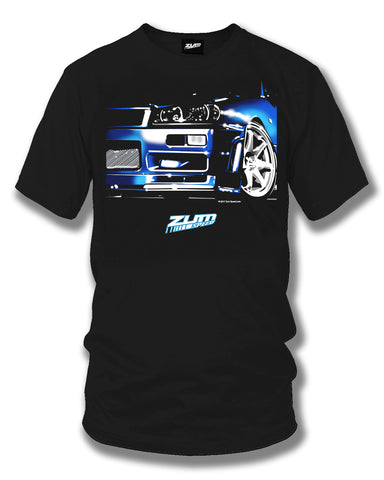 Image of Nissan Skyline R34 GT-R t shirt - Zum Speed