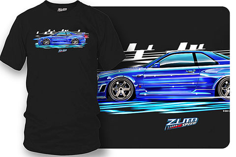 Nissan GTR  t-shirt - Zum Speed