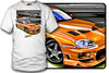 Toyota Supra, Fast Furious, orange Supra  t shirt - Zum Speed