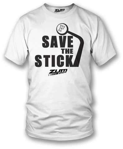 Save the Stick shirt, tuner car shirts - Save the Manual - Zum Speed
