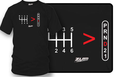 Stick Shift, Straight Drive is greater than automatic t-shirt - Zum Speed