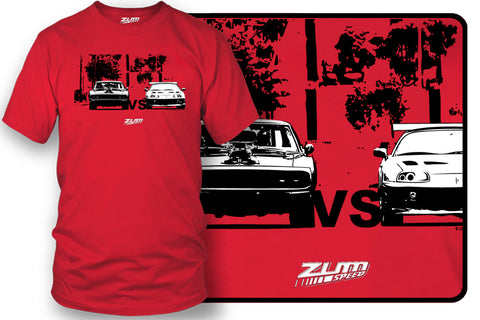 Supra vs Charger t-shirt, Fast and Furious t-shirt - Zum Speed
