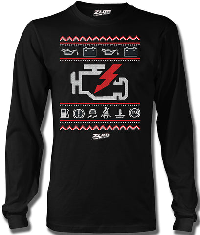 Check Engine Ugly Long Sleeve t-shirt Black - Zum Speed