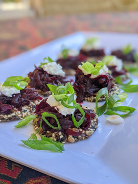 Organic Beetroot & Goat's Cheese Hors d'oeuvres
