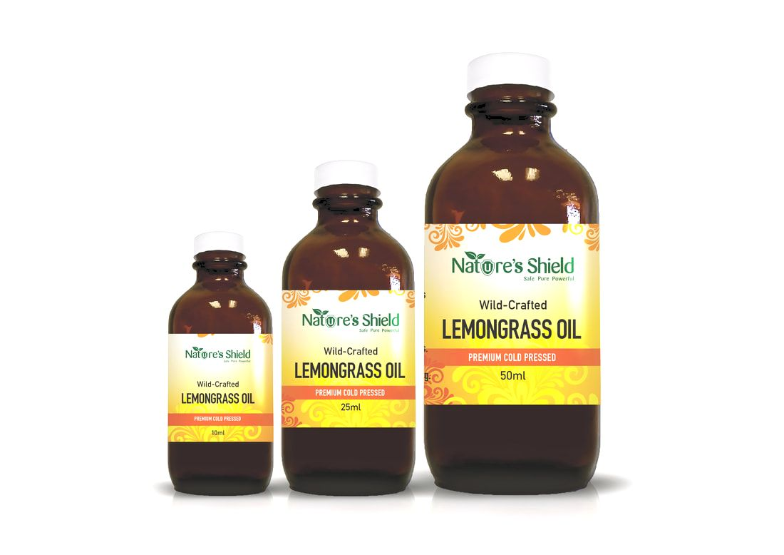NATURE'S SHIELD Wildcrafted Lemongrass Oil 25ml