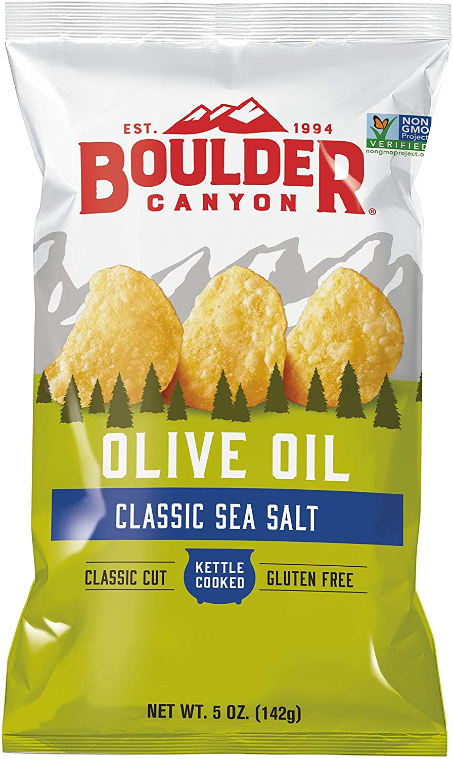 Boulder Canyon  Classic Sea Salt cooked in Olive Oil - GF & Vegan