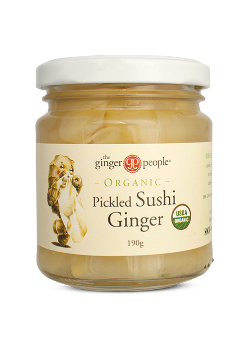 The Ginger People Certified Organic Pickled Sushi Ginger 190g