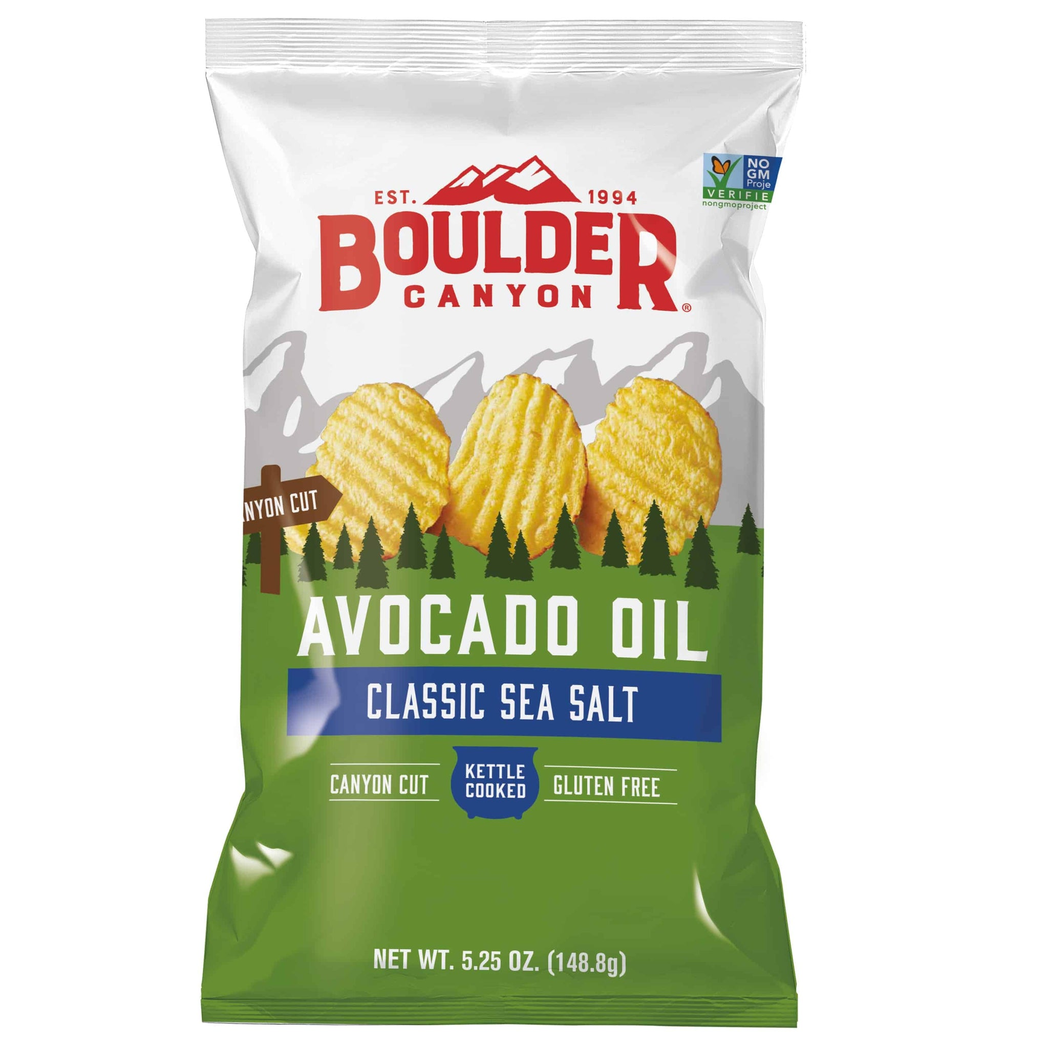 Boulder Canyon Classic Sea Salt cooked in Avocado  Oil - GF & Vegan