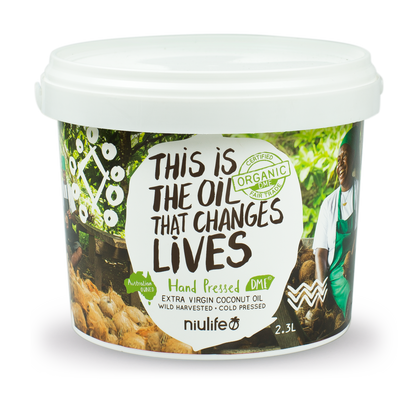 Niulife Organic Coconut Oil - Extra Virgin - 2L Pail