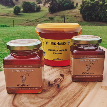 250g Glass Jar of  Honey by Tyagarah Apiarie, Byron Bay
