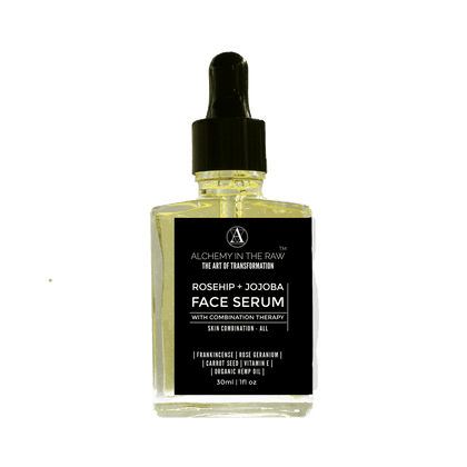 ALCHEMY IN THE RAW - Rosehip & Jojoba Face Serum with Complimentary Therapies 30ml