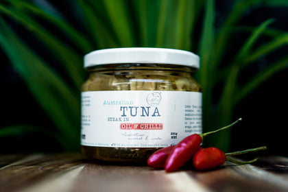 Australian Tuna Steak in Chilli Oil - Australian Wild Caught Tuna from Little Tuna
