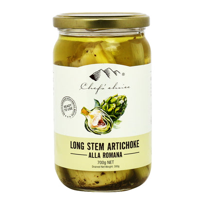 CHEF'S CHOICE Long Stemmed Artichoke - Alla Romana  700g