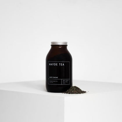 MAYDE TEA Mint-Cacao  AMBER JARS - 120 SERVES