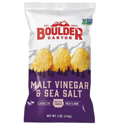 BOULDER CANYON Malt Vinegar & Sea Salt * not GF