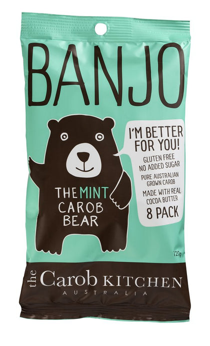 THE CAROB KITCHEN Banjo The Mint Carob Bear MULTI PACK