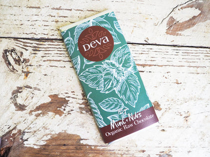 DEVA CACAO Mint with Nibs  85g